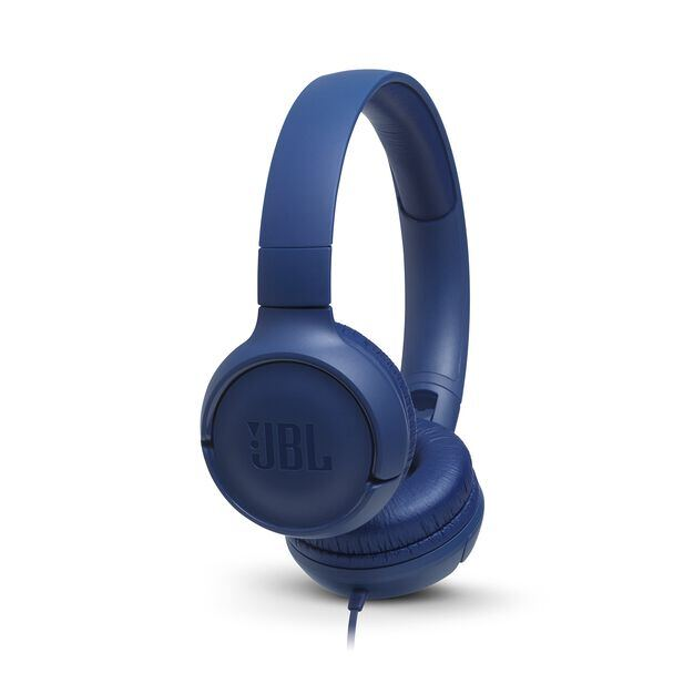 JBL TUNE 500 - Blue - Wired on-ear headphones - Hero