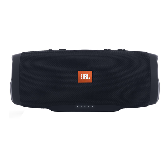 JBL Charge 3 Stealth Edition - Black - Full-featured waterproof portable speaker with high-capacity battery to charge your devices - Front