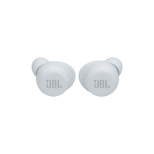 JBL Live Free NC+ TWS - White - True wireless in-ear NC headphones - Front