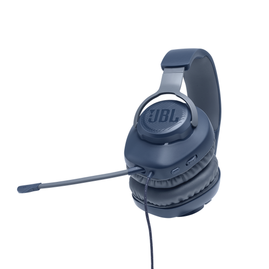 JBL Quantum 100 - Blue - Wired over-ear gaming headset with a detachable mic - Detailshot 4